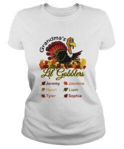 Grandma's Little' Gobblers Jeremy Jasmine Hazel Ladies Tee