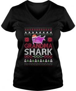 Grandma shark Doo Doo Doo Christmas Ladies VNeck