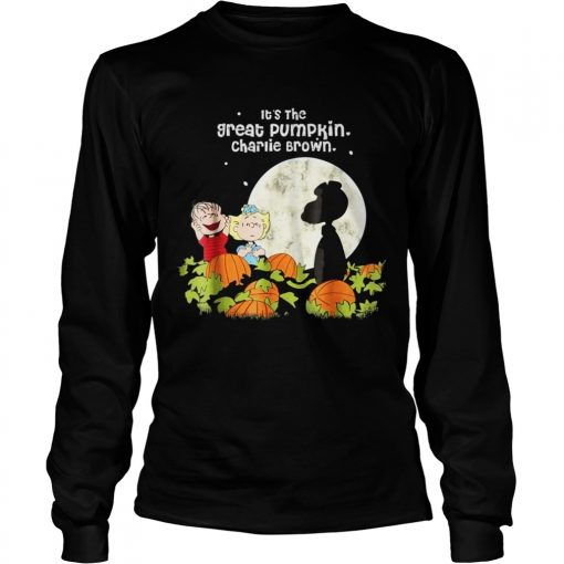 Halloween Its the Great Tee Pumpkin Longsleeve Tee