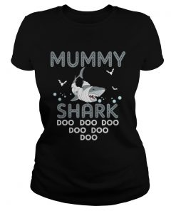 Halloween Mummy Shark Halloween Ladies Tee