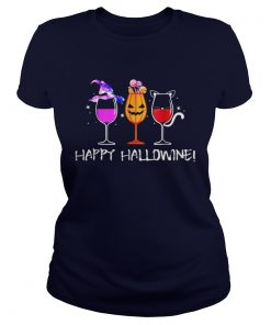 Happy Hallowine Ladies Tee