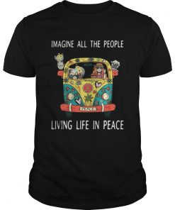 Hippie car imagine all the people living life in peace Guys