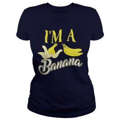 I m A Banana Halloween Costume Ladies Tee
