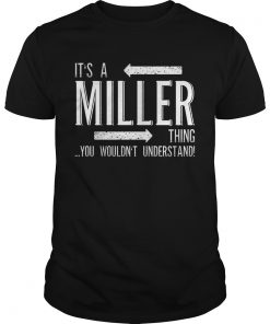 Its a MILLER Thing Funny Family Surname Guys
