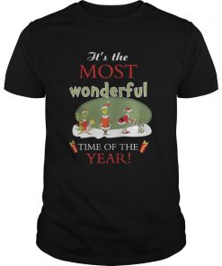 Its the most wonderful time of the year Christmas classic guys shirt