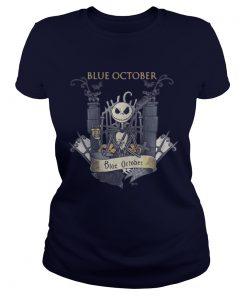 Jack Skellington Blue October Ladies Tee