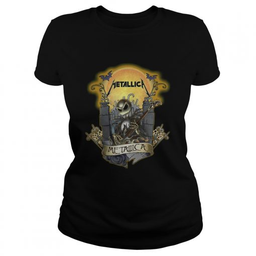 Jack Skellington metallica Ladies Tee