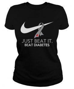 Just beat it beat diabetes Ladies Tee