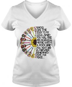 Knock On The Door To My Soul And You Will Find An Ageless Hippie ladies v-neck