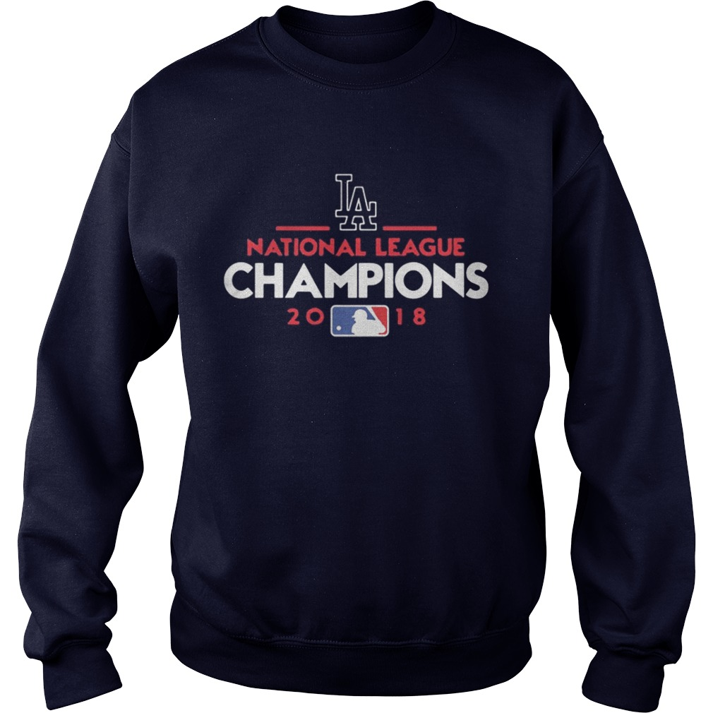 fad87d2f ... Longsleeve Tee. Los Angeles Dodgers National League Champions 2018  Sweatshirt