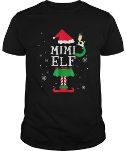 Mimi Elf Matching Family Christmas TShirt Pajamas Elves Guys
