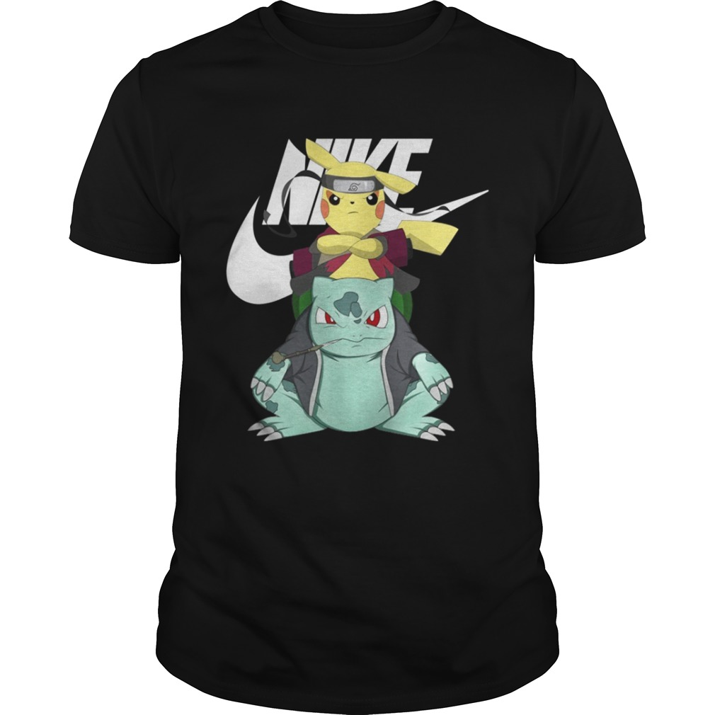 premium selection aba6a 736f6 Nike Bulbasaur and Pokemon X Naruto Pikachu shirt