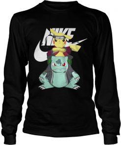 4566053e1 Nike Bulbasaur and Pokemon X Naruto Pikachu shirt - Kingteeshop