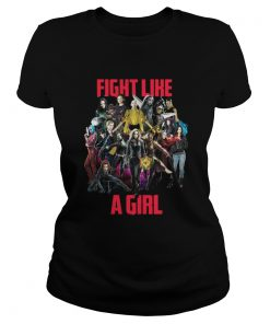 Official Marvel Girl fight like a girl Ladies Tee