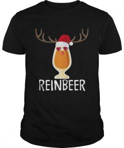 Reinbeer TShirt Funny Christmas Gift For Beer Lovers Guys