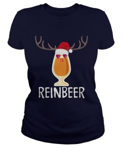 Reinbeer TShirt Funny Christmas Gift For Beer Lovers Ladies Tee