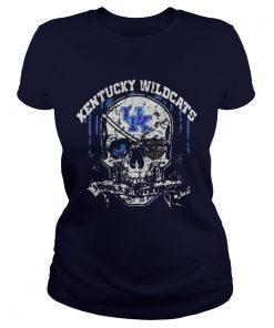 Skull Kentucky Wildcats Harley Davidson Ladies Tee