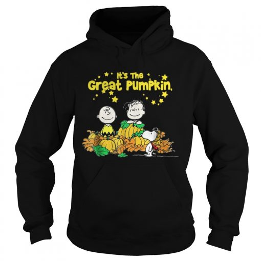 Snoopy and Charlie Brown It's the great Pumpkin Peanuts halloween Hoodie