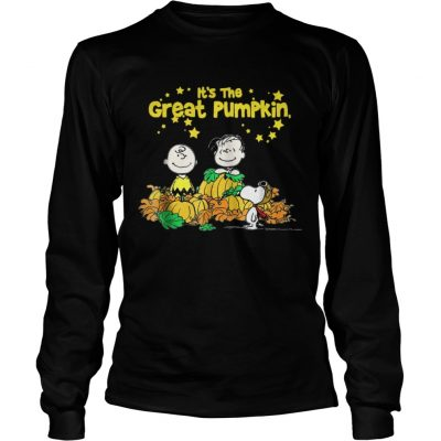 Snoopy and Charlie Brown It's the great Pumpkin Peanuts halloween Longsleeve Tee