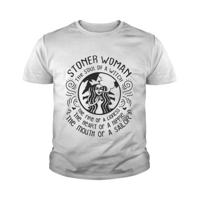 Stoner woman the soul of a witch the fire of a lioness youth tee