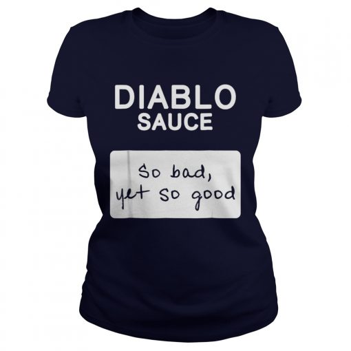 Taco Diablo Sauce Packet Halloween Costume Ladies Tee