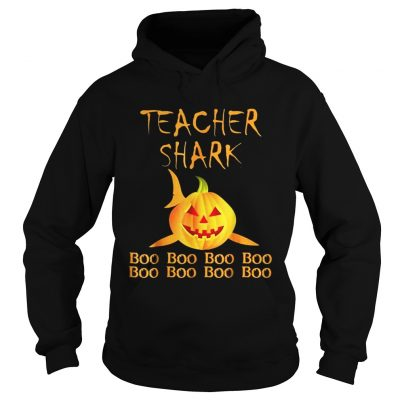 Teacher shark Doo doo boo boo Halloween Hoodie