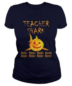 Teacher shark Doo doo boo boo Halloween Ladies Tee
