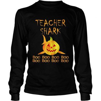 Teacher shark Doo doo boo boo Halloween Longsleeve Tee