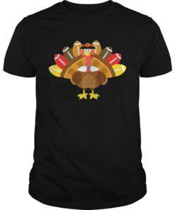 Thanksgiving TshirtTurkey Pilgrim and Football Guys