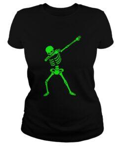 The Dabbing Skeleton ShirtHalloween TShirt Human Skeleton Ladies Tee