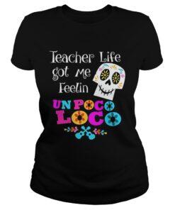 The Day of The Dead Sugar Skull for Teacher Halloween Ladies Tee