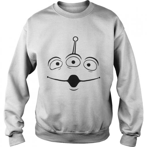 The Disney Pixar Toy Story Alien Face Halloween Graphic sweatshirt
