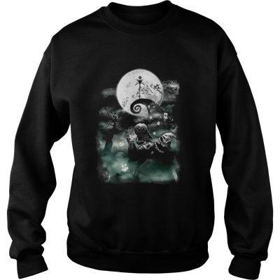 The Disney The Nightmare Before Christmas Haunted Scene sweatshirt