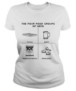 The four food groups of NEPA Ladies Tee