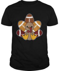 Turkey and Football TShirt for Thanksgiving classic guys