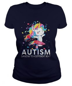 Unicorn Autism Dancing to a different beat Ladies Tee