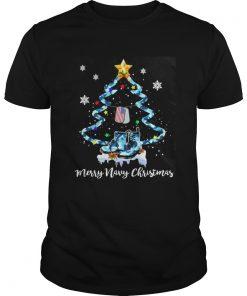 Veteran Merry Navy Christmas Tree Sweat shirt