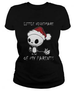 Baby Jack Skellington little nightmare of my parents Christmas Ladies Tee