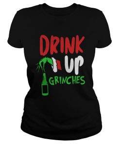 Bartender drink up Grinches Christmas Ladies Tee