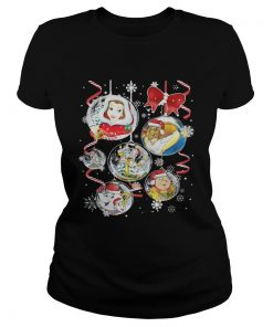Beauty and the Beast Christmas Ladies Tee