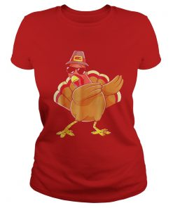 Cute Dabbing Turkey Ladies Tee