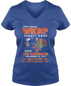 First Annual WKRP Turkey Drops With Les Nessman VNeck