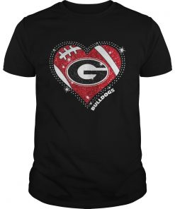 Georgia Bulldogs football diamond heart shirt