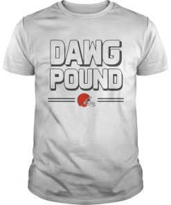 Guys Dawg pound Cleveland Browns shirt