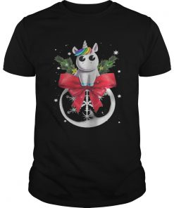 Guys Unicorn Christmas Shirt