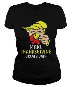 Happy Thanksgiving Daytrumpsgiving Turkey Face Ladies Tee