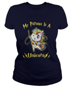 Harry Potter My patronus is a Unicorn Ladies Tee