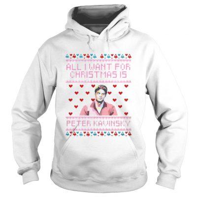 Hoodie All I Want For Christmas Is Peter Kavinsky Christmas shirt