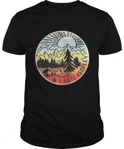 I hate people I like camping shirt