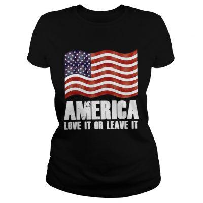 Ladies Tee America love it or leave it shirt